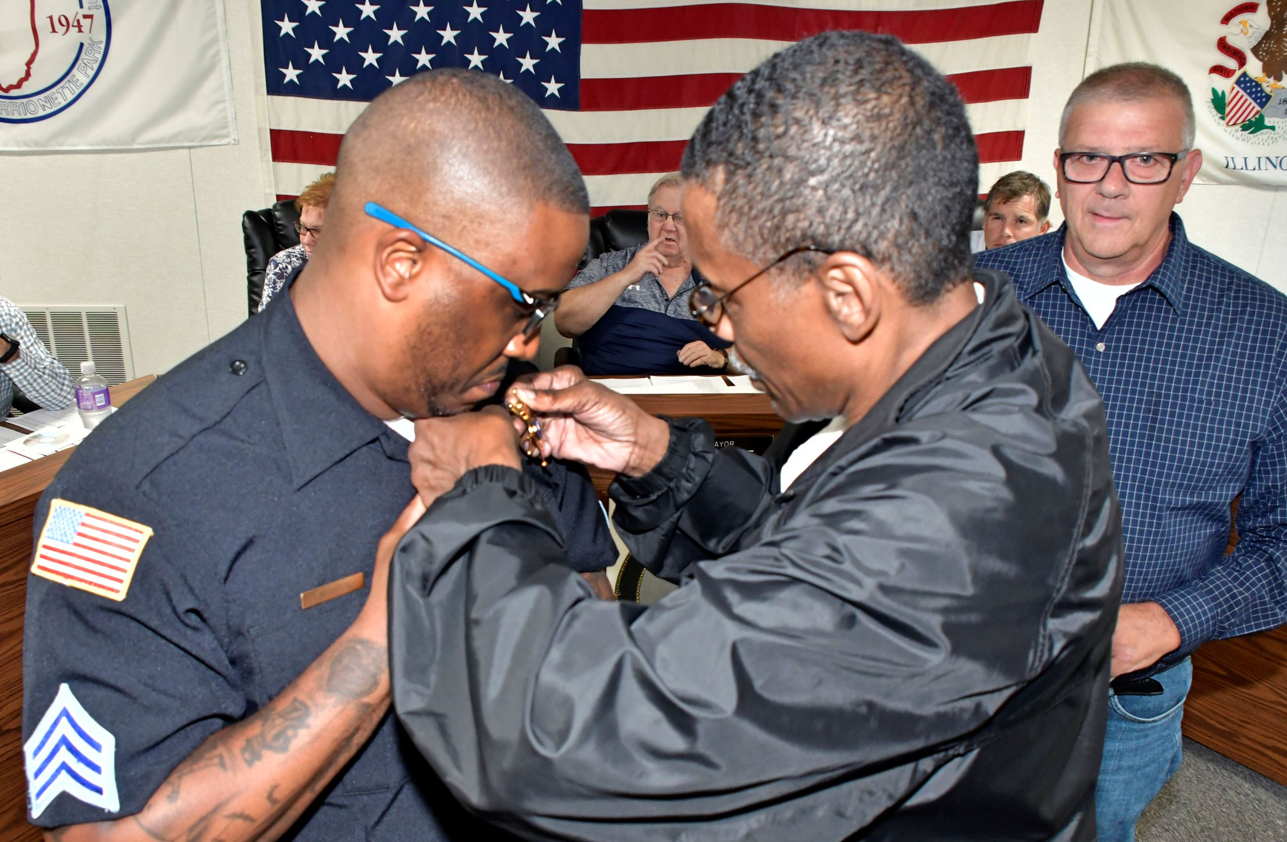 Police Promotion pinning